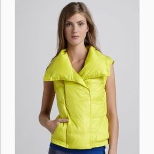 Vince puffer vest in neon yellow